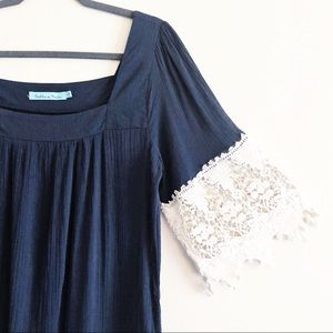 Solitaire Swim navy cover up
